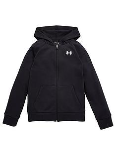 under-armour-rival-cotton-full-zip-hoodie-blackwhite