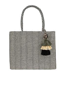 Accessorize Accessorize Meera Tassel Shopper Bag - Black/White Picture