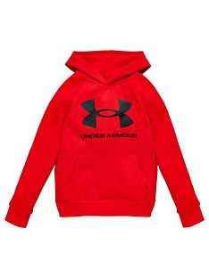 under-armour-childrens-rival-fleece-hoodie-red-black