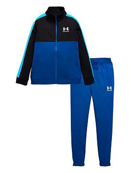 under-armour-colour-block-knit-track-suit-bluewhitenbsp