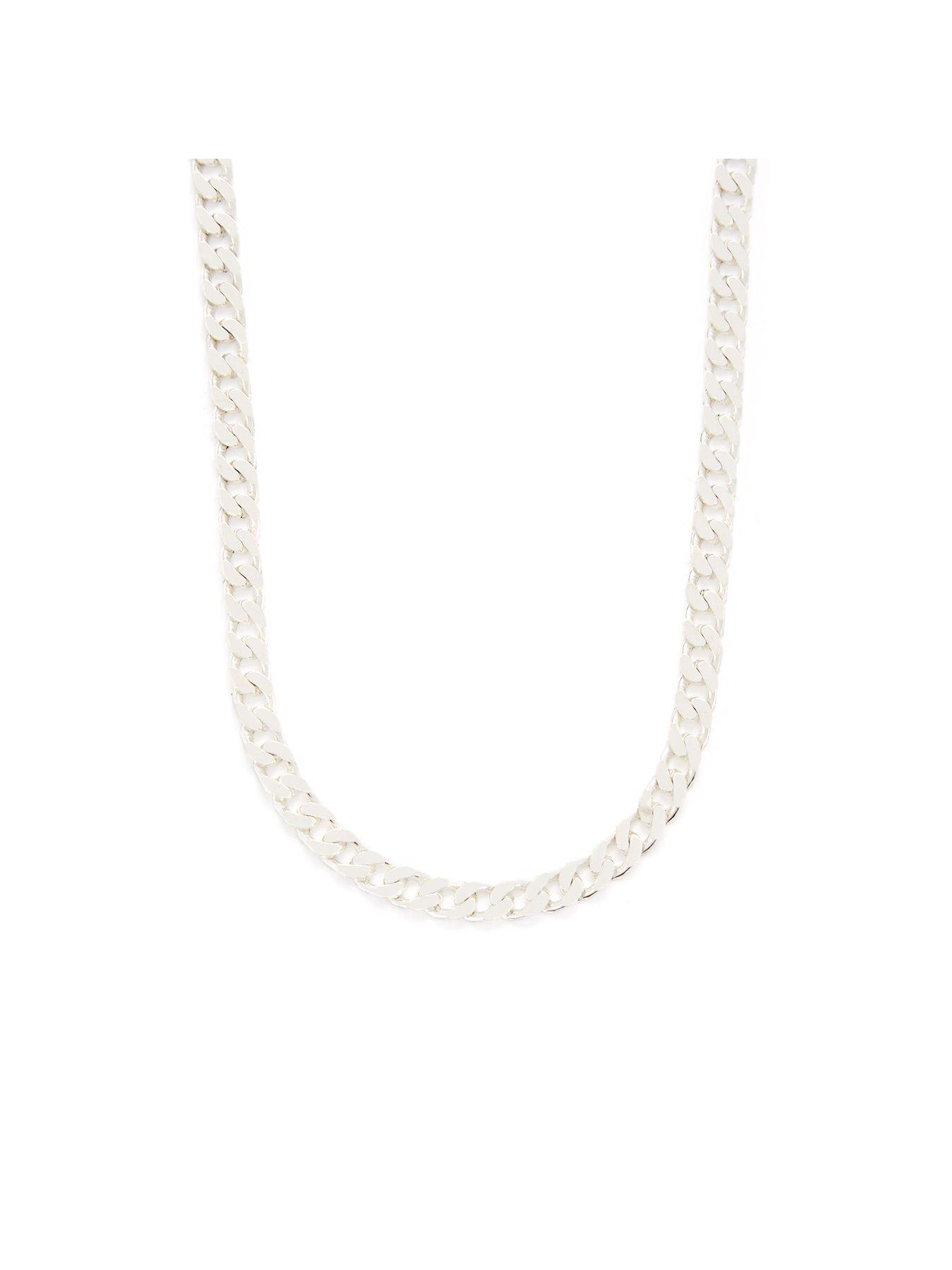 "Silver Plated Chain Necklaces 18/"" sold per pack of 12 pieces"