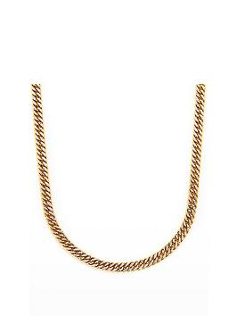 Love GOLD Love Gold 9Ct Gold Pave Curb 18 Inch Chain Necklace Picture