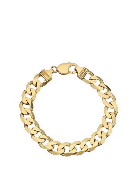 love-gold-9ct-yellow-gold-12-oz-solid-diamond-cutcurb-bracelet