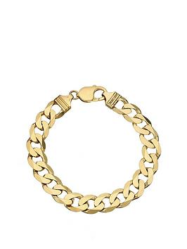 Love GOLD Love Gold 9Ct Yellow Gold 1/2 Oz Solid Diamond Cut Curb Bracelet Picture