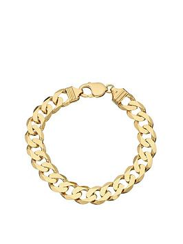 Love GOLD Love Gold 9Ct Yellow Gold 1 Oz Solid Diamond Cut Curb Bracelet Picture