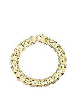 Love GOLD Love Gold 9Ct Yellow Gold 2 Oz Solid Diamond Cut Curb Bracelet Picture