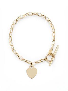 Love GOLD Love Gold 9Ct Gold Heart T-Bar Bracelet Picture