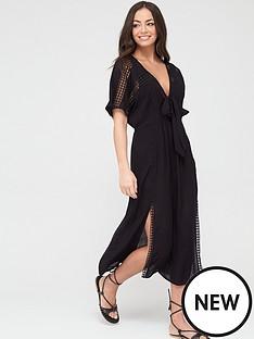 river-island-river-island-kimono-sleeve-beach-midi-dress-black