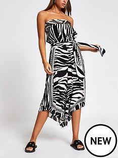 river-island-river-island-zebra-print-bandeau-culotte-beach-jumpsuit