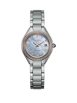 citizen-citizen-ladies-eco-drive-stainless-steel-crystal-bezel-mop-dial-watch