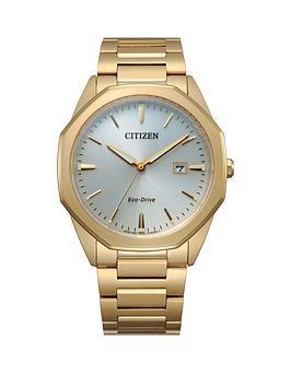 citizen-citizen-eco-drive-gold-stainless-steel-bracelet-mop-dial-mens-watch
