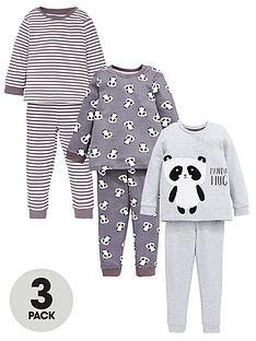 v-by-very-boys-3-pack-monocrome-panda-sunggle-fit-pj-set-grey