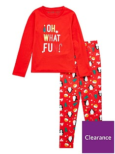 v-by-very-girls-christmas-sibling-pjs-red