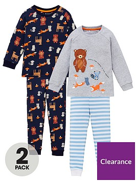 v-by-very-boys-2-pack-animal-snuggle-fit-pyjama-set-multi