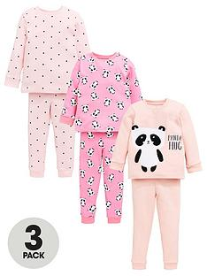 v-by-very-girls-3-pack-panda-snuggle-fit-pj-set-pink