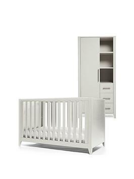 Mamas & Papas Mamas & Papas Melfi Cot Bed And Storage Wardrobe - Grey Picture