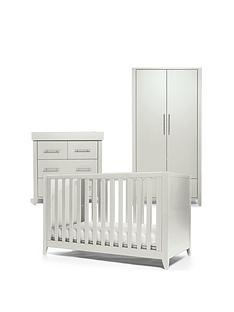 mamas-papas-melfi-cot-bed-dresser-changer-and-wardrobe-grey