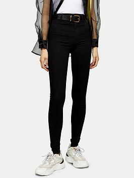 Topshop Topshop Tall Joni Clean Jeans - Black Picture