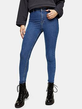 Topshop Topshop Tall Joni Clean Jeans - Midnight Picture