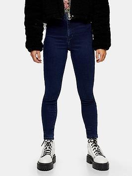 Topshop Topshop Petite Joni Clean Jeans - Indigo Picture