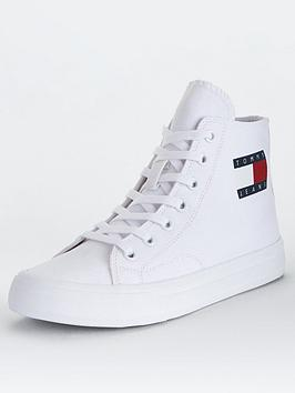 tommy-jeans-mid-cut-lace-up-vulcanised-trainers-white