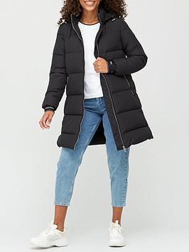 calvin-klein-logo-padded-coat-black