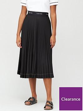 calvin-klein-sunray-pleat-midi-skirt-black