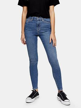 Topshop Topshop Abraided Hem Jamie Jeans - Blue Picture