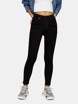 Topshop Topshop Jamie High Waisted Skinny Jeans - Black Picture