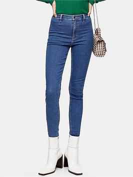 Topshop Topshop High Waisted Skinny Joni Jeans - Blue Picture