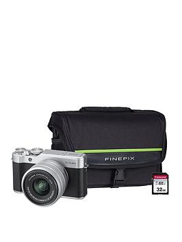 Fujifilm    X-A20 Silver Camera Kit Inc Xc 15-45Mm Lens, 32Gb & Finepix System Bag