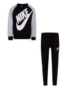 nike-younger-boy-oversized-futura-crew-set-black