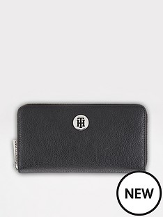 tommy-hilfiger-th-core-large-zip-purse-black