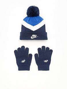 nike-younger-nsw-blocked-beanie-and-glove-blue