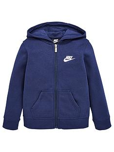 nike-younger-boys-club-fleecenbspfull-zipnbsphoodie-navy