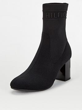 tommy-hilfiger-tommy-knit-mid-heel-boots-black