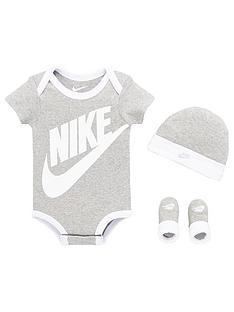 nike-baby-futura-logo-3-piece-hat-bodysuit-and-booties-set-grey