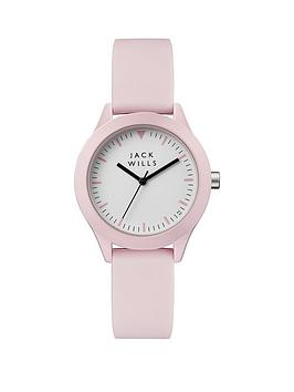 Jack Wills Jack Wills Union White Dial Pink Strap Watch Picture