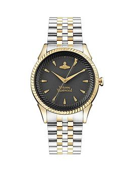 vivienne-westwood-vivienne-westwood-seymour-bi-colour-black-dial-bracelet-watch