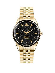 vivienne-westwood-vivienne-westwood-black-lace-dial-gold-stainless-steel-bracelet-ladies-watch