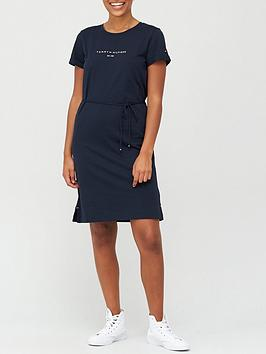 tommy-hilfiger-essential-hilfiger-regular-crew-neck-dress-navy
