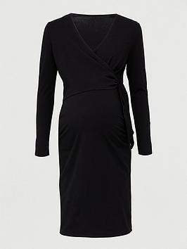 V by Very V By Very Maternity Tie Wrap Nursing Dress - Black Picture