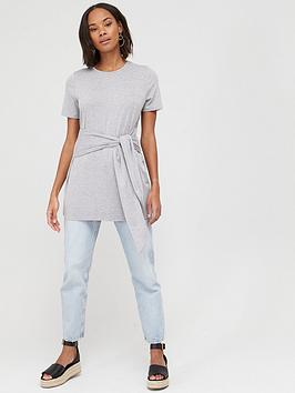 V by Very V By Very Tie Waist Tunic Top - Grey Picture