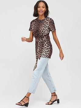 V by Very V By Very Tie Waist Tunic Top - Animal Picture
