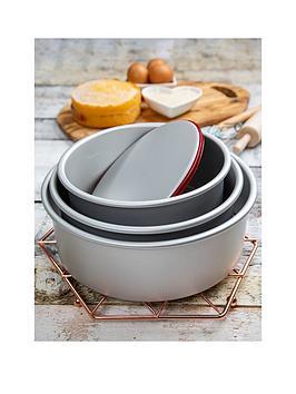 Wham Wham Aluminium Set Of 3 Deep Round Cake Tins Picture