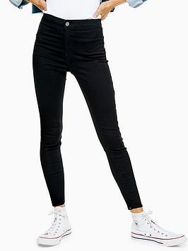 Topshop Topshop Petite Clean Joni Jeans - Black Picture