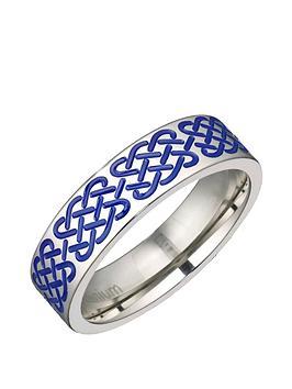 titanium-blue-stripe-6mm-polished-band