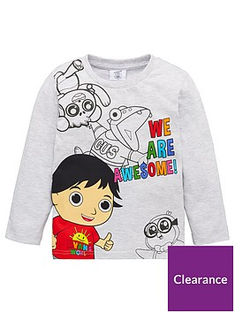 ryans-world-we-are-awesome-long-sleeve-t-shirt-grey
