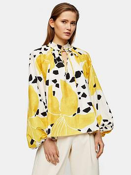 Topshop Topshop Boutique Lily Smock Top - Multi Picture