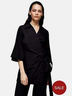 topshop-topshop-boutique-poplin-wrap-shirt-black